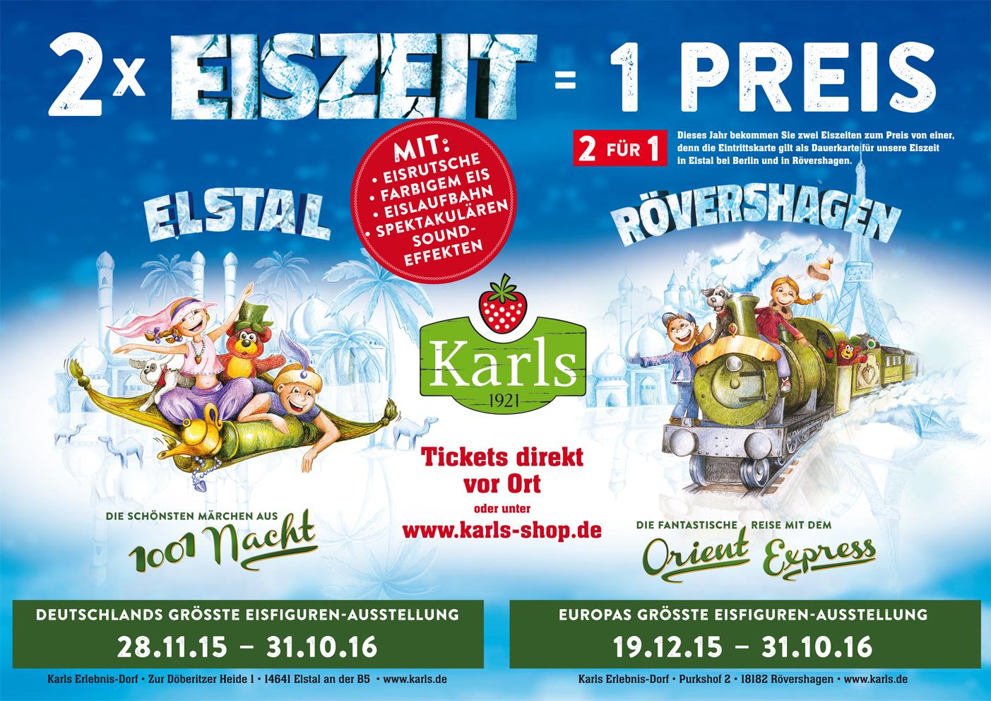 Der Orient Express fährt durch Karl's Eiswelt in ...